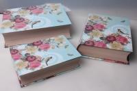 """Набор подарочных коробок из 3шт. """"Прямоугольник, книги"""" 37140"""