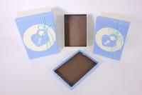 Набор подарочных коробок из 3шт - Прямоугольник с замком - голубые