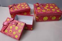 """Набор подарочных коробок из 3шт. """"Прямоугольник, смайлики"""" 37149"""