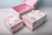 """Набор подарочных коробок из 3шт. Разноразмерные. """"Прямоугольная Прованс"""" 22х15х10см К401 цвета и рисунки в ассортименте."""