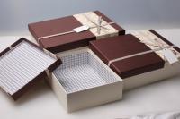 """Набор подарочных коробок из 3шт. Разноразмерные. """"Прямоугольник"""" цвета в ассортименте."""
