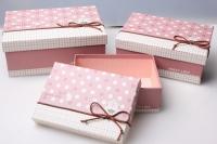 """Набор подарочных коробок из 3шт. Разноразмерные. """"Прямоугольник"""" цвета в ассортименте"""