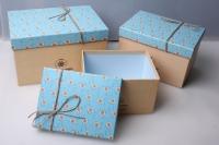 """Набор подарочных коробок из 3шт. Разноразмерные. """"Прямоугольник"""" цвета в ассортимнте"""