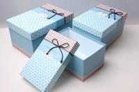"""Набор подарочных коробок из 3шт. Разноразмерные. """"Прямоугольные """" цвета в ассортименте"""