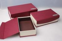 """Набор подарочных коробок из 3шт. Разноразмерные. """"Прямоугольные на магните""""  28х17х8см  цвета в ассортименте"""