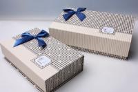"""Набор подарочных коробок из 3шт. Разноразмерные. """"Прямоугольные на магните"""" цвета и рисунки в ассортименте"""