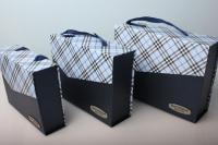 """Набор подарочных коробок из 3шт. Разноразмерные. """"Прямоугольный Чемоданчик с ручкой"""" 28х20х9см  А91314-2 цвета в ассортименте"""