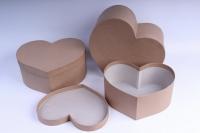 Набор подарочных коробок из 3шт (Сердца №77) КРАФТ Пин77-К