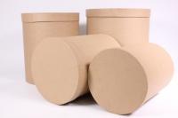 Набор подарочных коробок из 4шт (Цилиндр) КРАФТ Пин84-К