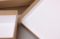 """набор подарочных коробок из 4шт. """"прямоугольные №7 крафт"""" пин07-к"""