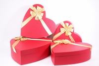 Набор подарочных коробок из 4шт (Сердце большое) красное