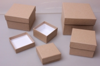 """Набор подарочных коробок из 5 шт. """"Маленькие квадраты №5 КРАФТ"""" Пин05-К"""