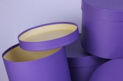 Набор подарочных коробок из 6 шт Цилиндр Фиолетовый d=31 h=24