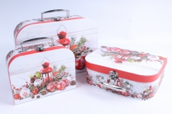 Набор подарочных коробок из 3шт - Чемоданчик НГ Фонарь с шарами SY8024-1601NG