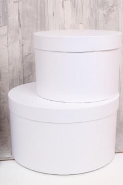 Набор подарочных коробок из 5шт - Цилиндр №85 Белый жемчуг 30*17см  Пин85БЖ