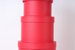 Набор подарочных коробок из 5шт - Цилиндр №85 Красный d=30 h=16см   Пин85КРС