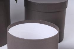 Набор подарочных коробок из 4шт - Цилиндр Какао №16   20*20см  Пин16КА