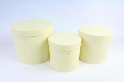 Набор подарочных коробок из 3шт - Цилиндр лимонный В75
