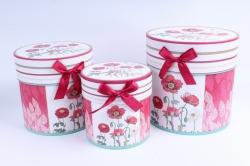 Набор подарочных коробок из 3шт - Цилиндр МАКИ H5493-D289
