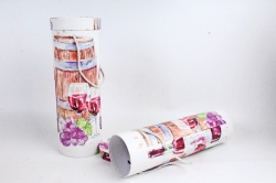 Набор подарочных коробок из 2шт - Цилиндр под бутылку С бочкой и бутылкой К190