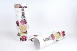 Набор подарочных коробок из 2шт - Цилиндр под бутылку С круглой бутылкой К190