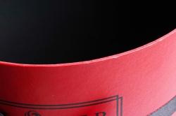 Набор подарочных коробок из 3шт - Цилиндр с лентой красный    Т96