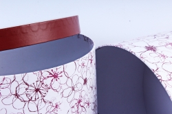 """Набор подарочных коробок из 10шт - КРУГ """"Цветочные кружева""""   SY813-1551"""