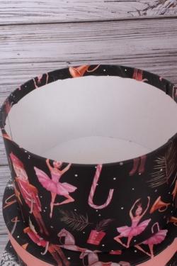 Набор подарочных коробок из 10шт - КРУГ Новый Год  Бал Щелкунчика 35*35*18см  N142