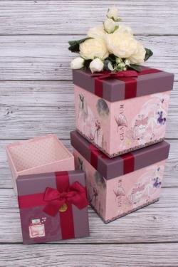 Набор подарочных коробок из 3шт - КУБ Гламур 16*16*16см  S48