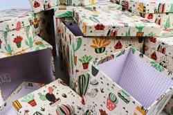"""Набор подарочных коробок из 10шт - КУБ """"Кактусы""""   SY601-1511"""