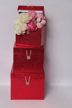 Набор подарочных коробок из 3шт - КУБ Красный 20*20*17см SY3325-RED