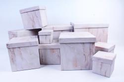 """Набор подарочных коробок из 10шт - КУБ """"Оникс""""   SY601-1516"""