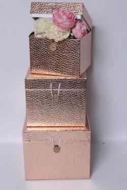 Набор подарочных коробок из 3шт - КУБ Розовый 20*20*17см SY3325-PINK
