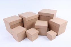Набор подарочных коробок из 8шт - КУБ  КРАФТ (М) Пав3-К