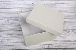 Набор подарочных коробок из 3шт - Квадрат № 75 ЛЮКС Серый 19,5см*19,5см*11см  Пин75Се/Люкс
