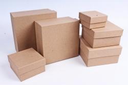 Набор подарочных коробок из 6шт - Квадрат КРАФТ №91 18*18*10см  Пин91-К  М