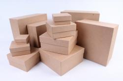 Набор подарочных коробок из 11шт - Квадрат КРАФТ   (М) Пав5-К