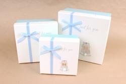 Набор подарочных коробок из 3шт - Квадрат с хвостиком Хомяк  К818
