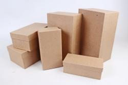 Набор подарочных коробок из 6шт - Прямоугольник №6 КРАФТ  Пав6-К