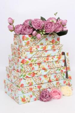 Набор подарочных коробок из 5шт - Прямоугольник Ассорти 30*17.5*7см  ШЗШ53