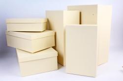 Набор подарочных коробок из 6шт - Прямоугольник Бежевый №81  Пин81Беж  (М)