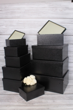 """Набор подарочных коробок из 10шт - Прямоугольник """"Черный"""" 37*29*16см SY605-BLACK"""