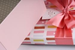 Набор подарочных коробок из 3шт - Прямоугольник Цветной орнамент розовый 31*20*13см К743