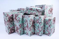 """Набор подарочных коробок из 10шт - Прямоугольник """"Цветочная Фантазия""""  SY605-1517"""