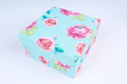 Набор подарочных коробок из 10шт - Прямоугольник Цветы №71  Пин71ЦВ  (М)