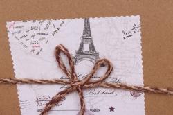 Набор подарочных коробок из 3шт - Прямоугольник Крафт с рисунком 2900-03 23*16*10см  10331-149