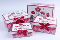 Набор подарочных коробок из 4шт - Прямоугольник МАКИ   H573N-D289