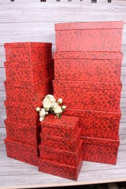 Набор подарочных коробок из 15шт - Прямоугольник Миллион Роз 52*40*23 К246