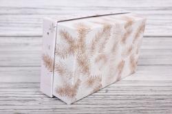 Набор подарочных коробок из 3шт - Прямоугольник НГ № 107 Белые игрушки 17,5*10,5*6,5см Пин107НГ-7