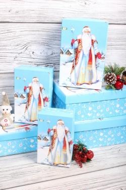 Набор подарочных коробок из 6шт - Прямоугольник НГ № 106  Морозко 32*20*13см Пин106НГ-22